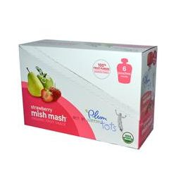 Plum Organics, Tots Mish Mash Organic Fruit Snack, Strawberry, 6 Pouches, 3.17 oz (90 g) Each