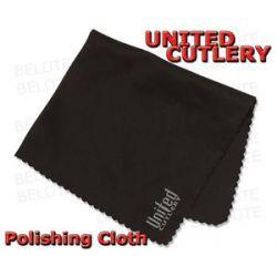 "United Cutlery Knife Tool 8"" x 7"" Premium Polishing Cloth Black UC2835"