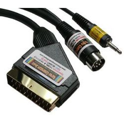 Sinclair ZX Spectrum+ 128K RGB Gold Scart Lead TV cable