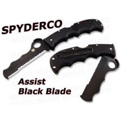 Spyderco Assist Black Blade Serrated Folder C79PSBBK