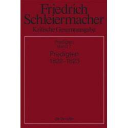 Bücher: Predigten 1822-1823  von Friedrich D. E. Schleiermacher