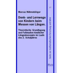 Bücher: Denk- und Lernwege von Kindern beim Messen von Längen  von Marcus Nührenbörger