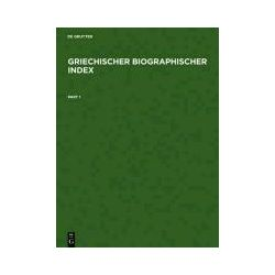 Bücher: Griechischer Biographischer Index / Greek Biographical Index  von Hilmar Schmuck