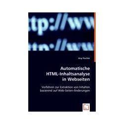 Bücher: Automatische HTML-Inhaltsanalyse in Webseiten  von Jörg Peschke