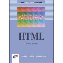 Bücher: HTML  von Thomas Kobert