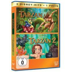 Film: Tarzan & Tarzan 2  von David Reynolds, Brian Pimental, Frank Nissen, Glen Keane, Paul Brizzi, Noni White, Bob Tzudiker, Tab Murphy von Chris Buck, Kevin Lima, Brian Smith mit Rosie ODonnell,