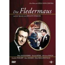 Film: Die Fledermaus  von Johann Strauss (Sohn) von Géza Cziffra mit Gunther Philipp, Willy Millowitsch, Marika Rökk, Marianne Koch, Peter Alexander
