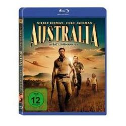 Film: Australia, 1 Blu-ray Disc  von Richard Flanagan, Stuart Beattie, Ronald Harwood, Baz Luhrmann von Baz Luhrmann mit Nicole Kidman, Hugh Jackman, David Wenham, Bryan Brown, Jack Thompson, David