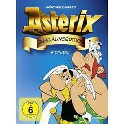 Film: Asterix Jubiläumsedition, 7 DVD  von Yannik Voight, Adolf Kabatek, Albert Uderzo, René Goscinny, Laszlo Molnar, Jos Marissen, Willy Lateste, Pierre Tchernia von Ray Goossens, Albert Uderzo,