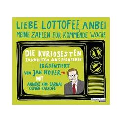 """Hörbücher: """"Liebe Lottofee, anbei meine Zahlen für kommende Woche""""  von Jan Hofer"""