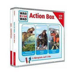 """Hörbücher: WAS IST WAS 3-CD-Hörspielbox """"Action und Abenteuer""""  von Matthias Falk, Manfred Baur von Kristiane Semar"""