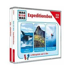 """Hörbücher: WAS IST WAS 3-CD-Hörspielbox """"Expedition""""  von Haderer Kurt, Manfred Baur von Kristiane Semar"""