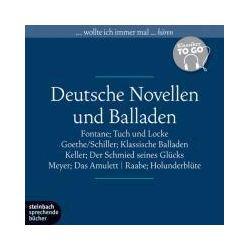Hörbücher: Deutsche Novellen - Klassiker to go  von Gottfried Keller, Johann W. Goethe, Theodor Fontane
