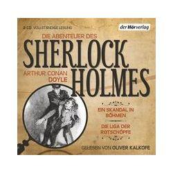Hörbücher: Die Abenteuer des Sherlock Holmes. Ein Skandal in Böhmen & Die Liga der Rotschöpfe  von Arthur Conan Doyle