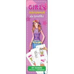 Girls - szkicownik do torebki fioletowy