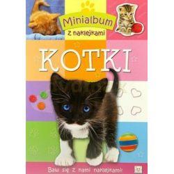 Minialbum z naklejkami - Kotki