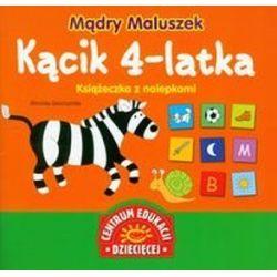 Mądry Maluszek Kącik 4-latka Książeczka z nalepkami - Weronika Goszczyńska