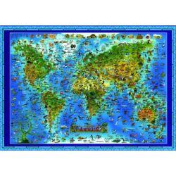 Mapa świata dla dzieci - Zwierzęta