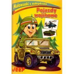 Malowanki z nalepkami. Pojazdy wojskowe. Jeep