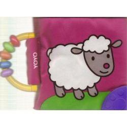 Książeczka szeleszcząca z grzechotką - Owca
