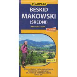 Beskid Makowski Średni. Mapa w skali 1:50 000