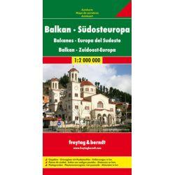 Bałkany Europa cz. południowa mapa 1:2 000 000