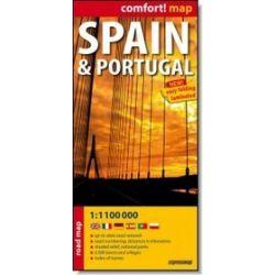 Hiszpania i Portugalia - mapa laminowana