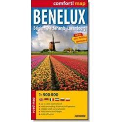 Benelux - Belgium, Netherlands, Luxembourg - laminowana mapa samochodowa 1:500 000