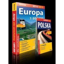 Europa. Atlas samochodowy + mapa Polski