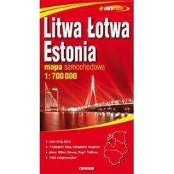 Litwa, Łotwa, Estonia - mapa samochodowa 1:700 000