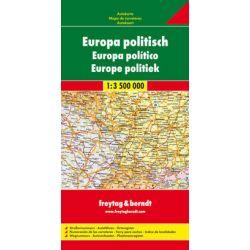 Europa mapa polityczno drogowa 1:3 500 000