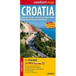 Chorwacja (Croatia) mapa laminowana 1:750 000