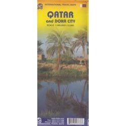 Katar i Doha - mapa w skali 1:300 000 / 1:12 500