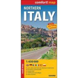 Włochy część północna mapa laminowna 1:650 000