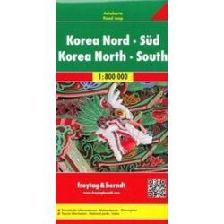 Korea Północna Korea Południowa mapa 1:800 000