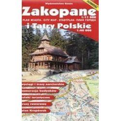 Zakopane - plan miasta i Tatry Polskie