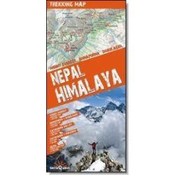 Nepal Himalaya - trekking map