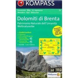 Dolomity Brenty mapa 1:50 000 Kompass
