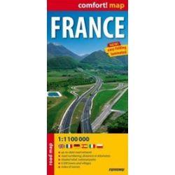 France 1:1 100 000 - laminowana mapa samochodowa