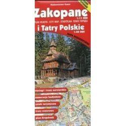 Zakopane - plan miasta i Tatry Polskie - mapa wodoodporna