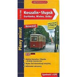 Koszalin. Słupsk, Darłówko, Mielno, Ustka - Plany miast ( skala 1:15 000