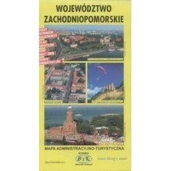 Województwo zachodniopomorskie - mapa administracyjno turystyczna