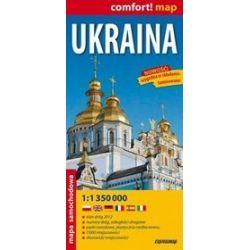 Ukraina 1:1 350 000 - mapa samochodowa