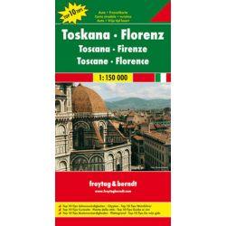 Toskania-Florencja mapa 1:150 000