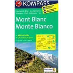 Mont Blanc mapa 1: 50 000