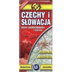 Czechy i Słowacja - laminowana mapa samochodowa w skali 1:600 000