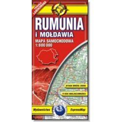 Rumunia i Mołdawia - mapa samochodowa
