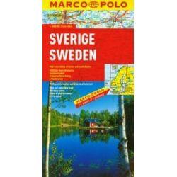 Szwecja mapa samochodowa 1:800 000