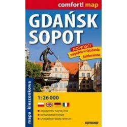 Gdańsk, Sopot - kieszonkowy laminowany plan maista w skali 1: 26 000