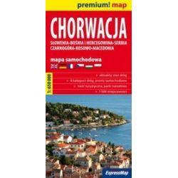 Chorwacja, Słowenia, Bośnia i Hercegowina, Serbia, Czarnogóra, Kosowo, Macedonia 1:650 000 - mapa samochodowa